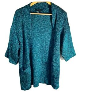 Forever21 Open Front Green Sweater M